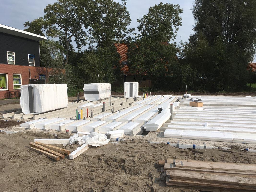 Nieuwbouw aanleg gas water licht   RA Techniek Joure   Installatiewerkzaamheden